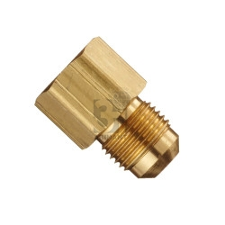 brass compression to flare adapter