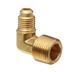 brass flare to mips 90 degree fitting